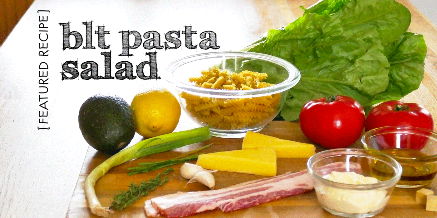 Victoria Cellars featured picnic recipe BLT pasta salad