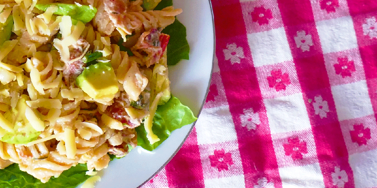 Victoria's Cellars featured picnic recipe BLT pasta salad